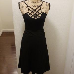 Express Black A-Line Skirt